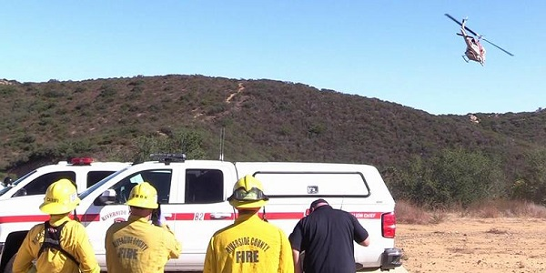 LAKE ELSINORE: Injured man rescued from mountainside after hang gliding accident
