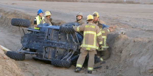 Three juveniles injured after off-road vehicle flips in Menifee field