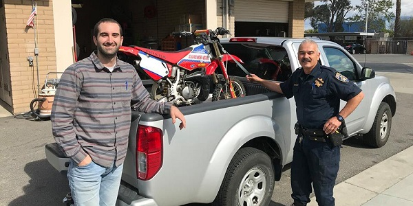Dirt bike, stolen 16 years ago, located and returned to surprised owner