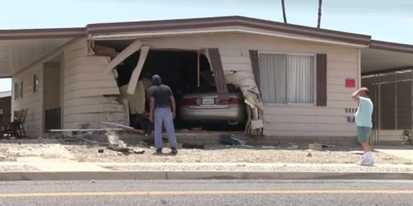 HEMET: Home left uninhabitable after car plows into it