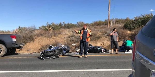 Two motorcyclists hospitalized, one airlifted, after Aguanga four-vehicle pileup