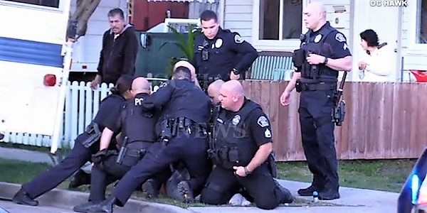 3 officers injured, suspect dead, after violent OC neighborhood rampage