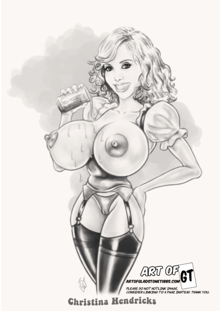 huge-boobed-christina-hendricks-private-tasting-caricature