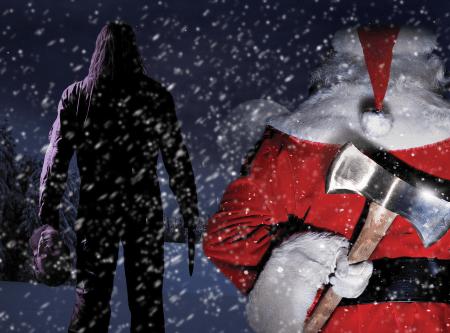 michael_myers_vs__killer_santa_by_angrydogdesigns-d31hhk1