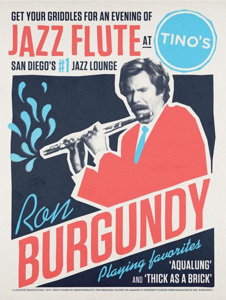 Ron Burgundy Jazz Flute At Tino's by Aled Lewis