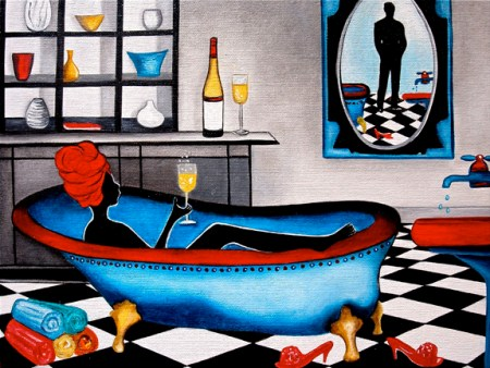 [IMG SRC=_URL_ ALT= wine,wine painting, bath room painting, k madison moore artist]