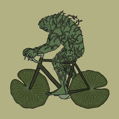 swamp-thing-riding-bike-with-lilly-pad-wheels_original