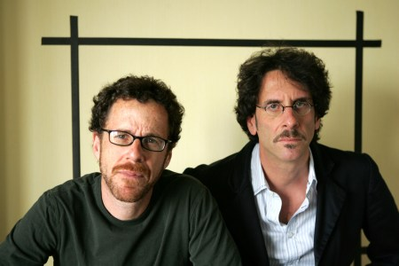 "Filmakers Ethan Coen, left and Joel Coen, pose for a portrait while promoting their new movie ""No Country For Old Men,"" at the Four Seasons Hotel in Los Angeles, Sunday, Nov. 4, 2007. (AP Photo/Stefano Paltera)"