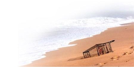 shoppping-cart-beach