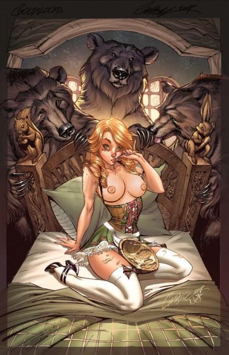 357504 - Baby_Bear J_Scott_Campbell Mama_bear Papa_bear fairy_tales goldilocks goldilocks_and_the_three_bears