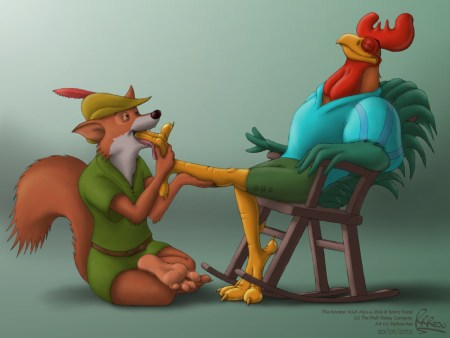 alan_a_dale_and_robin_hood___of_foxes_and_fowl_by_riproarrex-d4orwbu