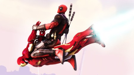 778315-3d-deadpool-wade-wilson-digital-art-flying-fun-funny-iron-man-marvel-comics-riding-superheroes-swords-weapons-wtf