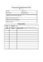 Photopoint field sheet