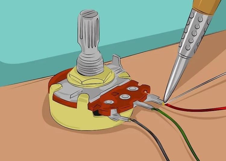 Gambar langkah 4 memasang potensiometer