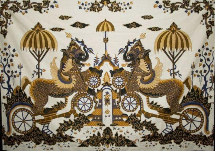 Gambar batik singa payung