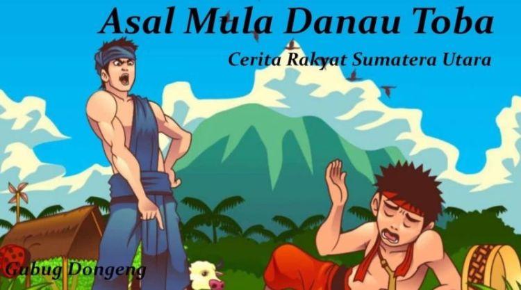 Ilustrasi cerita Danau Toba singkat