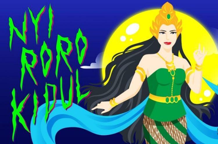 Ilustrasi cerita rakyat Nyi Roro Kidul
