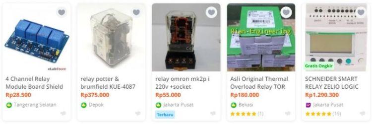 Gambar contoh harga relay