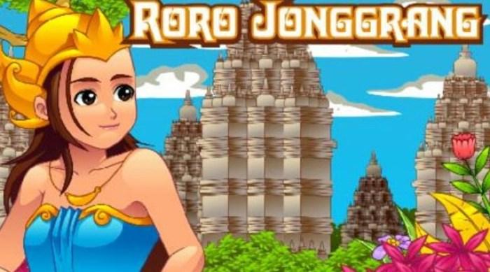 Gambar ringkasan cerita Roro Jonggrang dalam candi sewu