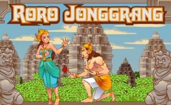 Ilustrasi gambar cerita Roro Jonggrang dan Bandung Bondowoso