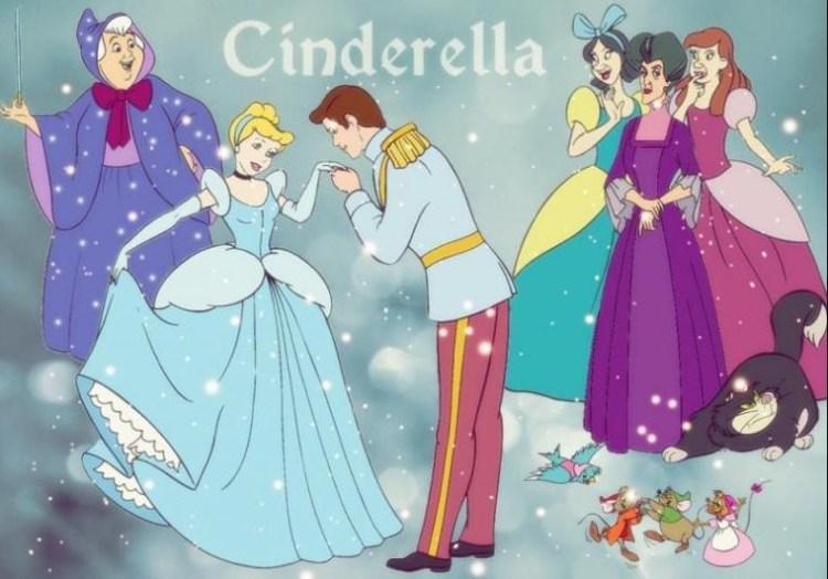 Ilustrasi kebahagiaan Cinderella