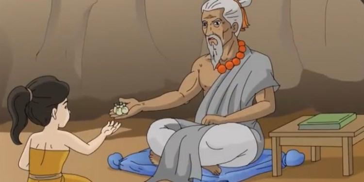 Mbok Srini bertemu dengan Petapa