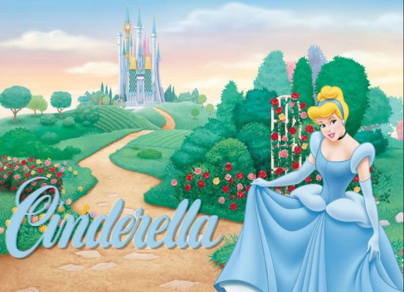 Ilustrasi cerita Cinderella dan sepatu kaca
