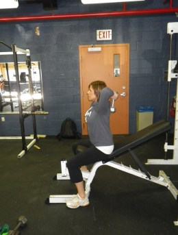 exercises for paddlers: Tricep extension ending position