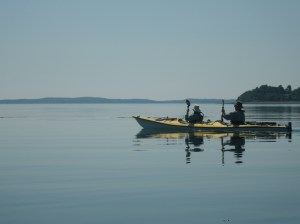 Kayaking near St. Andrews, New Brunswick