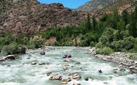 whitewater river with many rocks and obstacles