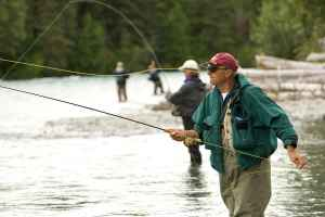 You can fly fish with friends as well.