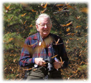 Dr. Lincoln Brower, famed entomologist, among his friends: Monarch Butterflies