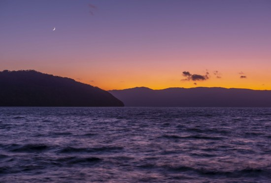 Twilight on Lake Towada
