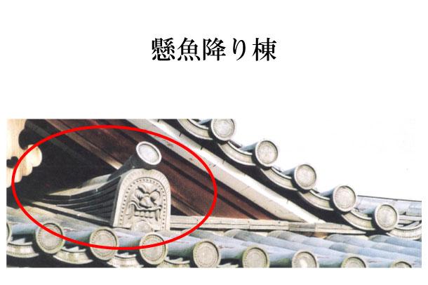 「懸魚降り棟 げぎょくだりむね」難しい屋根の専門用語をやさしく解説。今日の屋根用語!第220日目   石川 ...
