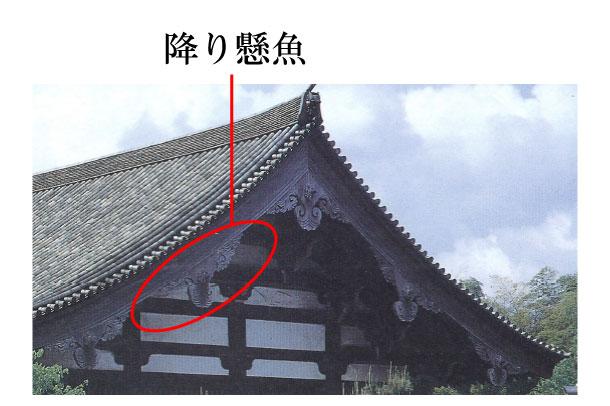 「降り懸魚 くだりげぎょ」難しい屋根の専門用語をやさしく解説。今日の屋根用語!第435日目   石川商店