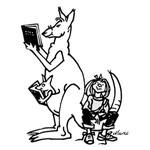 Kangaroo reading