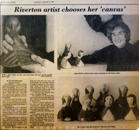 Bay Ruff Riverton artist chooses her canvas, BCT, Jan 3, 1983