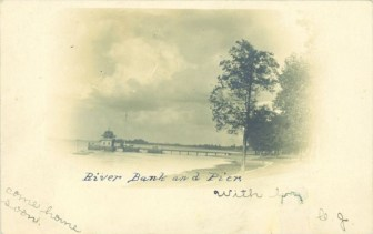 River bank and pier