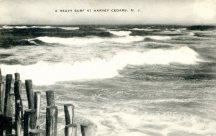 A Heavy Surf at Harvey Cedars, NJ