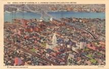 Aerial View of Camden, NJ Showing Camden-Philadelphia Bridge