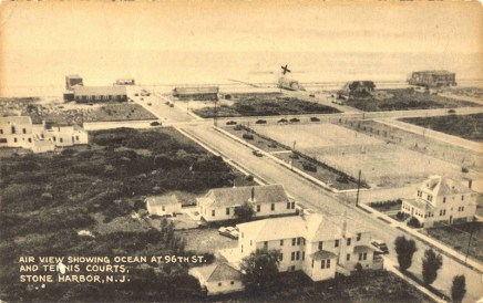 Air View Showing Ocean at 96th St., Stone Harbor, NJ