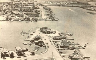 Air View, Yacht Club in Center, Stone Harbor, NJ