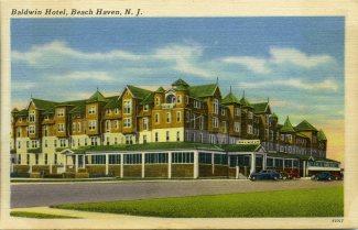 Baldwin Hotel, Beach Haven, NJ c1940