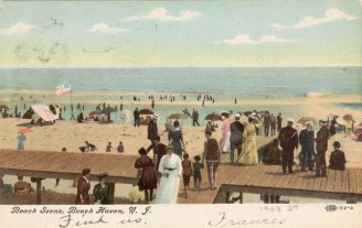 Beach Scene, Beach Haven, NJ 1908