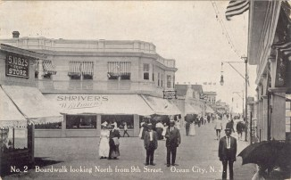 Boardwalk Looking North from 9th Street, Ocean City, NJ 1912