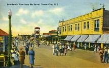 Boardwalk View from 9th Street, Ocean City, NJ 1939