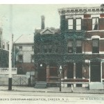 Postmarked in Camden, N.J. Aug. 25, 1909, the undivided back postcard depicts the Young Men's Christian Association building