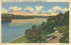 Drive along the Schuylkill River in Fairmount Park