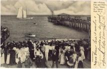Fishing Pier and Fishing Yacht, Asbury Park, NJ 1907
