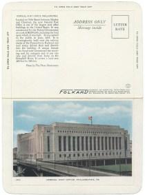 General Post Office, Philadelphia, PA - Unused FOLKARD c.1929